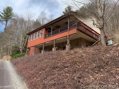 Ashe County Single Family Home For Sale: 720 River Front Drive