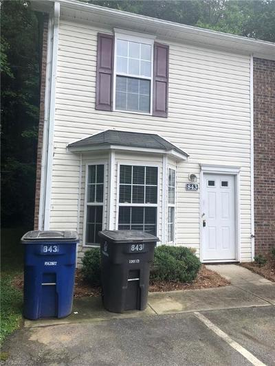 Forsyth County Condo/Townhouse For Sale: 843 Brickwood Court