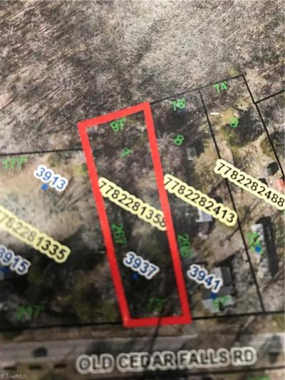Randleman Residential Lots & Land For Sale: 3937 Old Cedar Falls Road