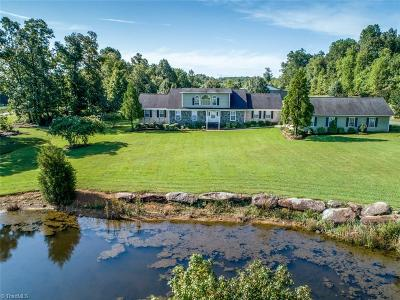 Surry County, Yadkin County, Davie County, Stokes County, Forsyth County, Davidson County, Rockingham County, Guilford County, Randolph County, Caswell County, Alamance County Single Family Home For Sale: 2770 Farmer Road