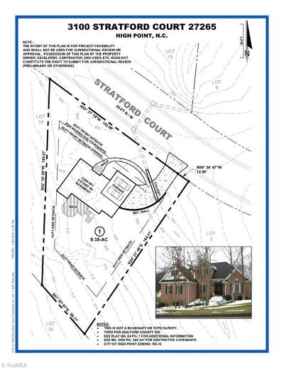 High Point Residential Lots & Land For Sale: 3100 Stratford Court
