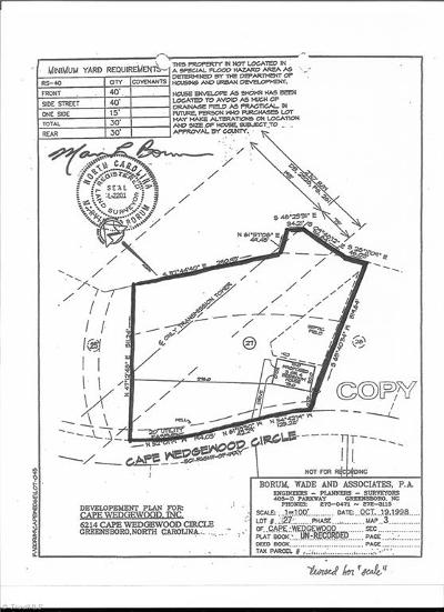 Browns Summit Residential Lots & Land For Sale: 6214 Cape Wedgewood Circle