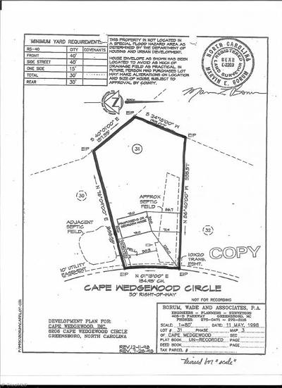 Browns Summit Residential Lots & Land For Sale: 6206 Cape Wedgewood Circle