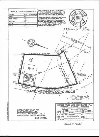 Browns Summit Residential Lots & Land For Sale: 6310 Cape Wedgewood Circle