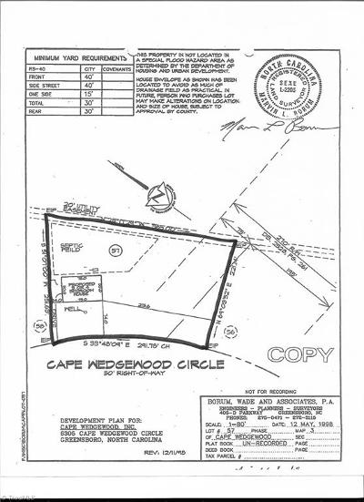 Browns Summit Residential Lots & Land For Sale: 6305 Cape Wedgewood Circle