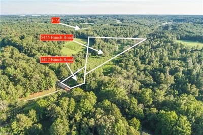 Guilford County Residential Lots & Land For Sale: 5447 & 5455 Bunch Road
