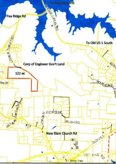 Chatham County Residential Lots & Land Pending: Lower Thrift Road