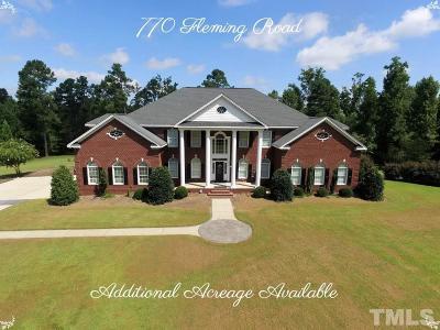 Harnett County Single Family Home For Sale: 770 Fleming Road