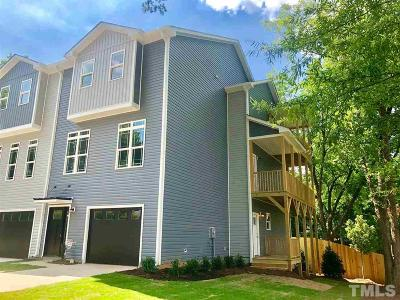 Cary Townhouse For Sale: 307 Holloway Street