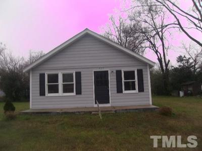 Dunn NC Single Family Home For Sale: $62,000