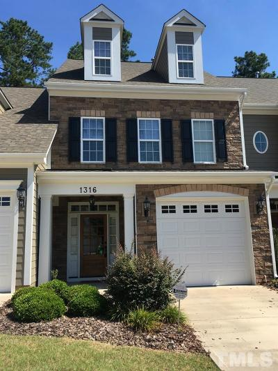 Morrisville Townhouse Pending: 1316 Checkerberry Drive