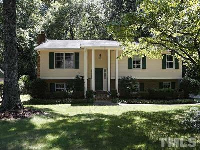 Cary Single Family Home Contingent: 1322 Helmsdale Drive