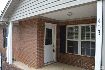 Mebane Townhouse For Sale: 403 McKinley Place