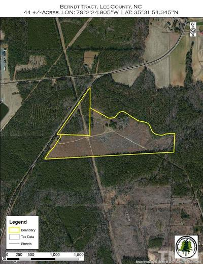 Lee County Residential Lots & Land Pending: Avents Ferry Road
