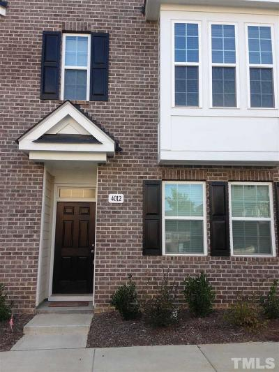 Main Street Square Townhouse For Sale: 4012 Kentworth Drive