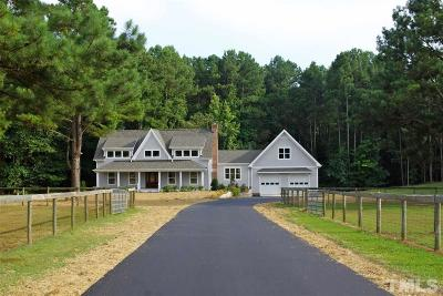 Apex Single Family Home For Sale: 490 Mt Pisgah Church Road