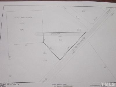 Granville County Commercial Lots & Land For Sale: Lot 1 E Lyon Station Road