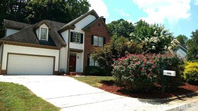 Raleigh Single Family Home For Sale: 520 Tufts Court
