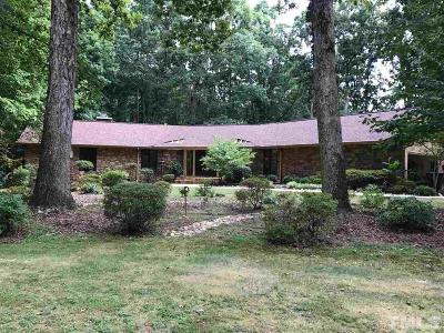Raleigh Single Family Home Contingent: 8805 Leesville Road
