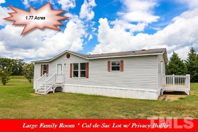 Johnston County Manufactured Home Contingent: 123 Wade Drive