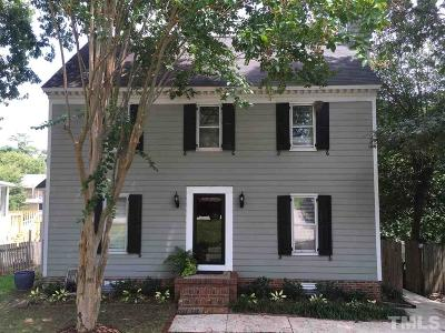 Raleigh Single Family Home Contingent: 3820 Old Coach Road