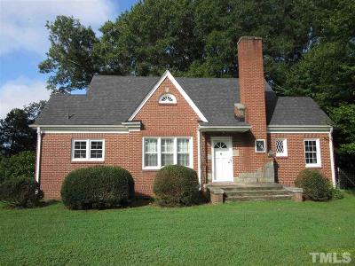 Single Family Home Contingent: 1901 Zebulon Road