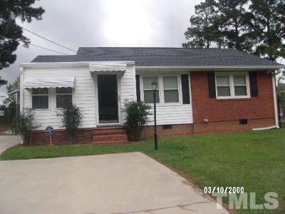 Dunn NC Single Family Home For Sale: $105,000