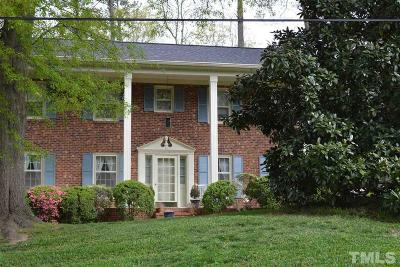 Raleigh Single Family Home For Sale: 1916 Hillock Drive