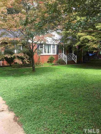 Cary Single Family Home Contingent: 212 Gray Street