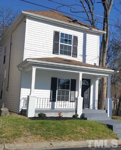 Durham Single Family Home For Sale: 1217 Sawyer Street