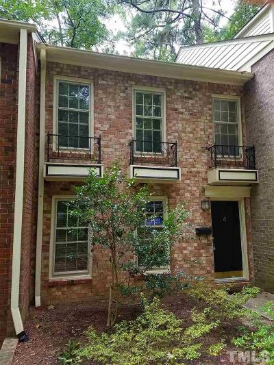 Chapel Hill Townhouse For Sale: 409 Smith Avenue #4