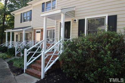 Carrboro Townhouse For Sale: E 3 Fenway Court