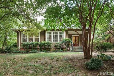 Raleigh Single Family Home Contingent: 1609 Park Drive