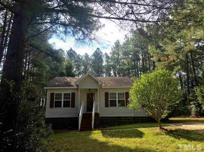 Fuquay Varina NC Single Family Home For Sale: $135,000