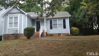 Cary Single Family Home Contingent: 202 Kronos Lane