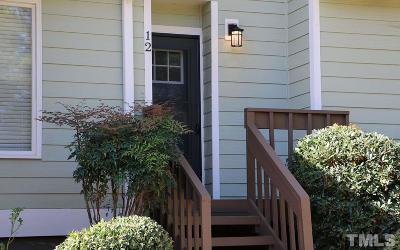 Chapel Hill Townhouse For Sale: 250 S Estes Drive #12