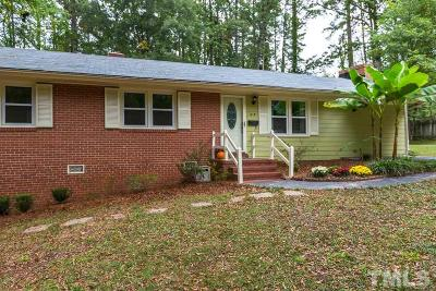Cary Single Family Home Contingent: 618 Dorset Drive