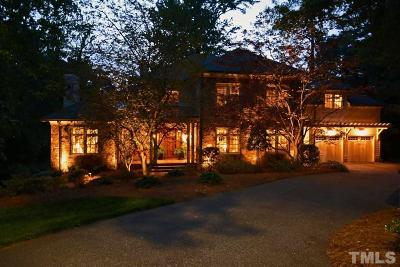 Raleigh NC Single Family Home For Sale: $1,790,000