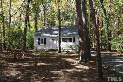 Chapel Hill Single Family Home For Sale: 1 Wyrick Street