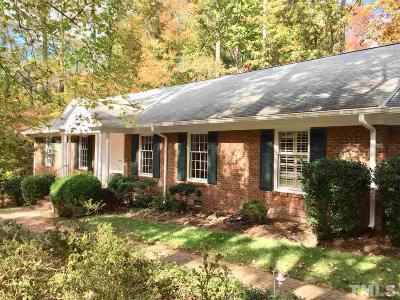 Chapel Hill Single Family Home For Sale: 1706 Michaux Road