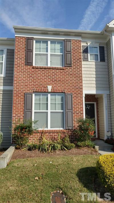 Durham Townhouse For Sale: 100 Stratford Lakes Drive #149