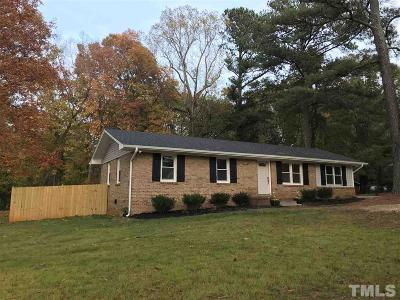 Wake County Single Family Home For Sale: 6533 Rex Road