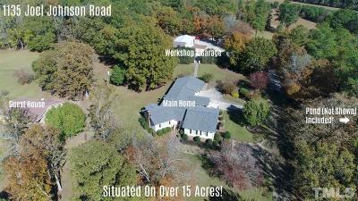 Harnett County Single Family Home For Sale: 1135 Joel Johnson Road