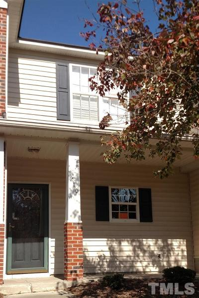 Durham Townhouse For Sale: 210 Basset Hall Drive