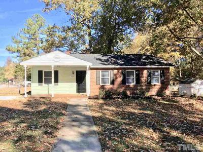 Raleigh NC Single Family Home For Sale: $169,900