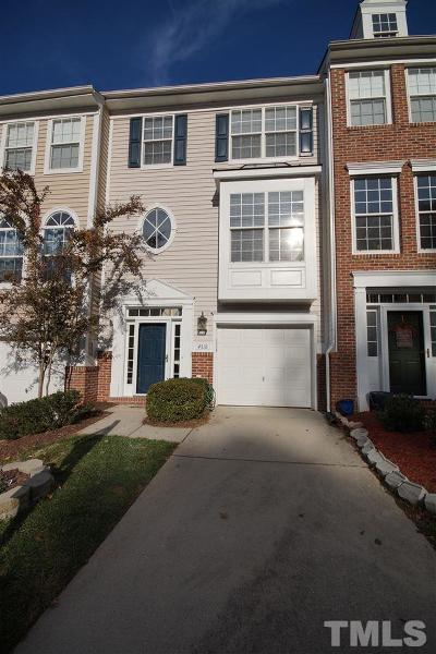 Raleigh Townhouse For Sale: 4718 Longhill Lane