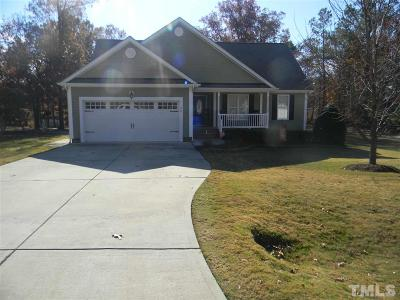 Angier Single Family Home Contingent: 28 Burrage Drive