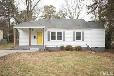 Wake County Single Family Home Contingent: 208 Myers Avenue