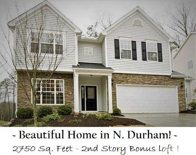 Durham Single Family Home For Sale: 5011 McKittrick Lane