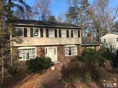 Chapel Hill Single Family Home Contingent: 1703 Fountain Ridge Road